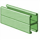 UNISTRUT, 12GA,1-5/8 X 10' BACK/BACK SOLID GREEN