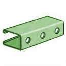 UNISTRUT, 3-1/4 X 20' PUNCHED  PERMA-GREEN