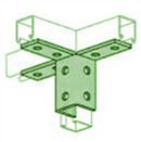 UNISTRUT, 12-HOLE WING FITTING PERMA-GREEN